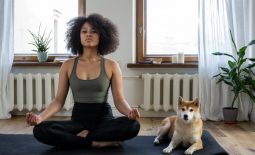 woman doing yoga poses for beginners