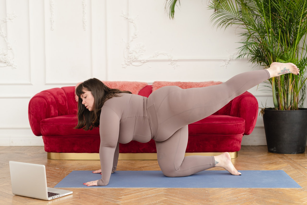 woman doing asanas for weight loss